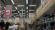 Buyer in supermarket (can be used for timelapse) Stock Footage