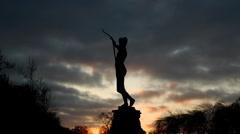 Amazon statue London Stock Footage