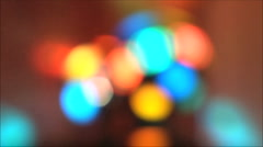 Blurred colorful lights at the disco Stock Footage