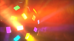 Colorful lights at the disco Stock Footage