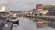 Stock Video Footage of Brussels Canal With Boats 4-Pond JPEG Export
