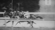 Vintage 1950s Horse Racing in Black and White Stock Footage