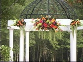 Wedding Gazebo/Altar Decorated in Pink Stock Footage