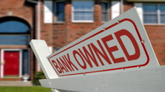 Foreclosed Home Stock Footage