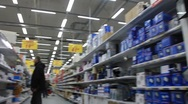 Stock Video Footage of Buyer in supermarket (can be used for timelapse)