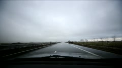 Road Trip With Rain Stock Footage