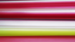 Plastic straws - detail - stock footage