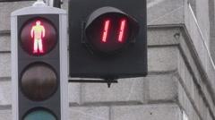 Pedestrian Crossing Stock Footage