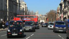 Black Taxi Cabs London Stock Footage