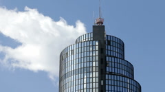 Business tower - windy day Stock Footage