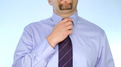 Businessman loosening up necktie and shirt - stock footage