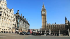 Big-Ben & Parliament, London Summer Stock Footage