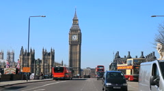 Big Ben & Westminster Bridge Stock Footage