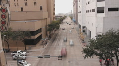 Editorial: Time Lapse of Houston Car and Foot Traffic Stock Footage