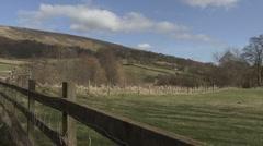 Swaledale landscape near Reeth. - stock footage