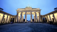 Timelapse, Berlin, Brandenburger Tor Stock Footage