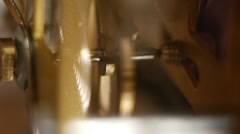 In the inside of the mechanical clock 3 - stock footage