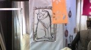 Drawing cats Stock Footage