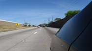 Stock Video Footage of Editorial: Time Lapse of Driving on the Freeway in Houston Traffic