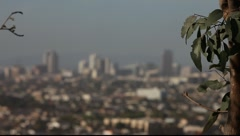 Long Beach Downtown from Signal Hill #5 Stock Footage