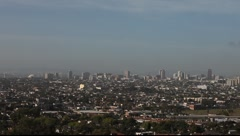 Long Beach Downtown from Signal Hill #4 Stock Footage