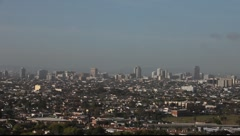 Long Beach Downtown from Signal Hill #3 Stock Footage