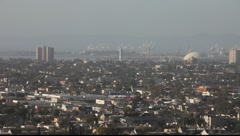 Long Beach Downtown from Signal Hill #1 Stock Footage