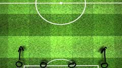Soccer Tactics 05 Stock Footage