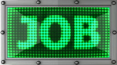 Job announcement on the LED display Stock Footage