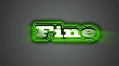 Fine Label - stock footage