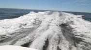 Stock Video Footage of Wake From Boat