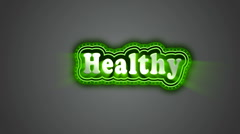 Healthy Label Stock Footage