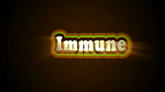 Immune Label - stock footage