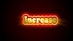 Increase label - stock footage