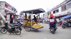Mobile Banana Vendor Stock Footage
