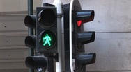 Stock Video Footage of Stoplight Switches From 'Walk' to 'Don't Walk'