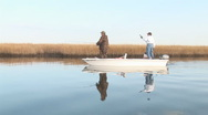 Stock Video Footage of Louisiana Marsh Fishing