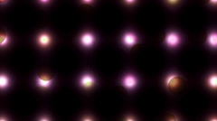 Abstract pulsing rotating dots Stock Footage