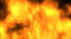 1080P 3D CG Fire Animation Background with Alpha Channel - stock footage