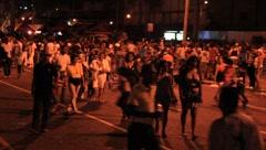 Carnaval-People Walking in Street (HD) co Stock Footage