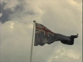 Australian Flag Stock Footage