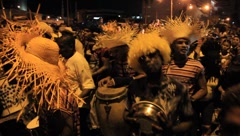Carnaval-Dancing Crowd Goes By (HD) co Stock Footage