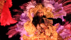 Carnaval-Close Up of Woman of Float (HD) co Stock Footage