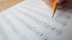 music composing Stock Footage
