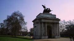 Wellington Arch, London timelapse Stock Footage