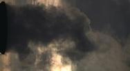 Smoke Stacks Vertical Shot Stock Footage