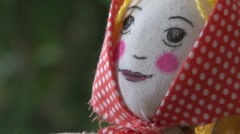 Shrovetide Doll Stock Footage