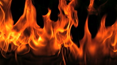 Super Slow Motion Fire and Flames Shot by High Speed Camera Stock Footage