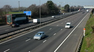 Stock Video Footage of Traffic on the M1 Motorway dual carriageway.  Northamptonshire England UK