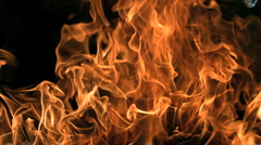 Super Slow Motion Fire and Flames Shot by High Speed Camera - stock footage